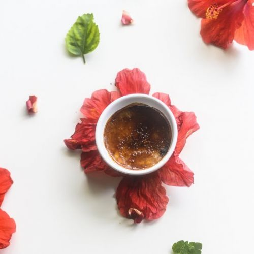 Hibiscus Tea Creme Brulee for Sprin