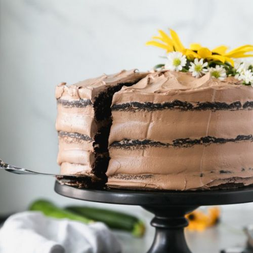Dark Chocolate Zucchini Cake