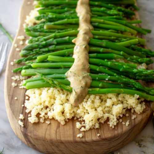 Lemon Herb Asparagus Couscous