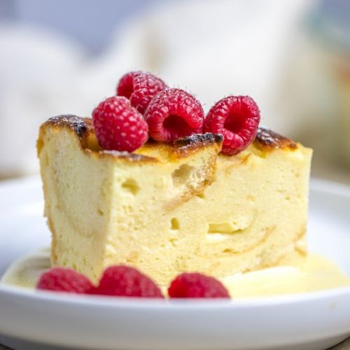 Custard Bread Pudding with Sauce