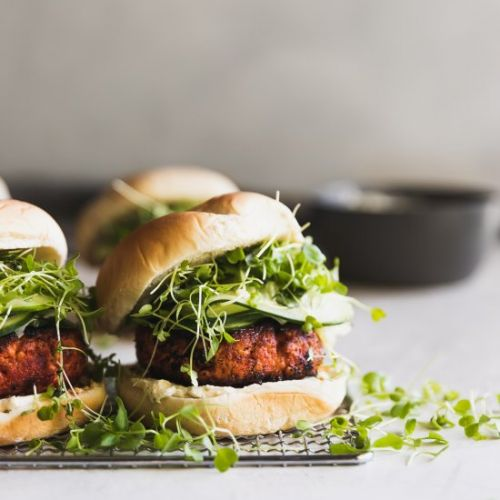 Blackened Salmon Burgers
