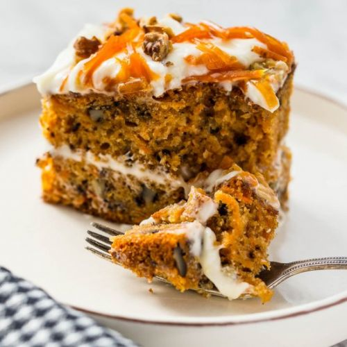 Spiced Carrot and Walnut Cake
