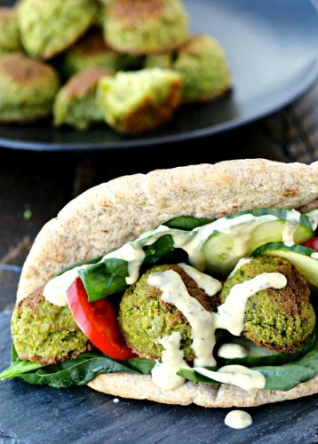 Dining with the Doc: Edamame Falafel Sandwiches