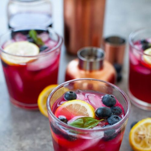 Blueberry Basil Vodka Lemonade
