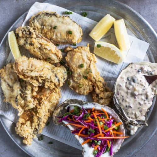 Panko Crusted Fried Oysters