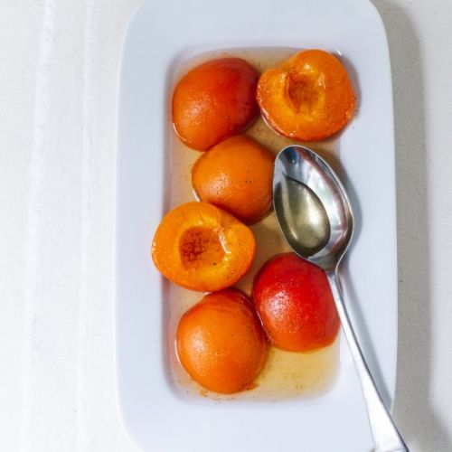 Poached Apricots with Tonka Bean