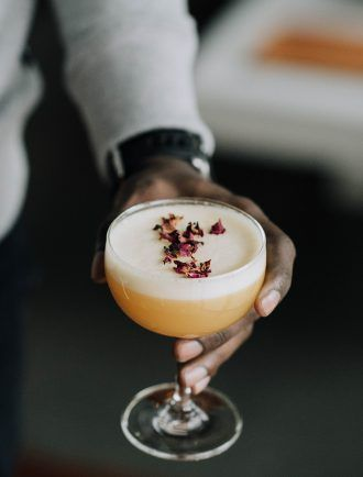 Rose Gold Gin Cocktail