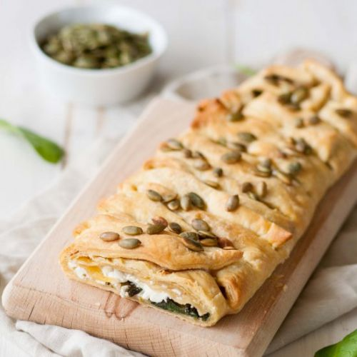Strudel with spinach