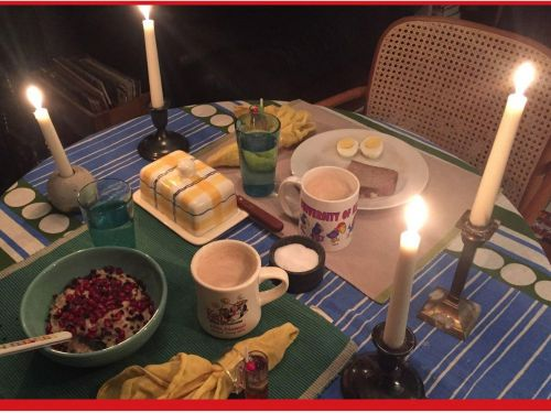 Enjoy Breakfast by Candlelight