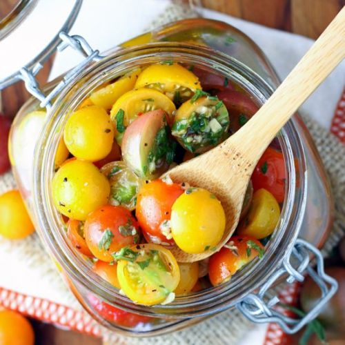 Easy Marinated Cherry Tomatoes