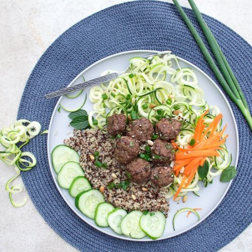 Lemongrass Meatballs & Veggies