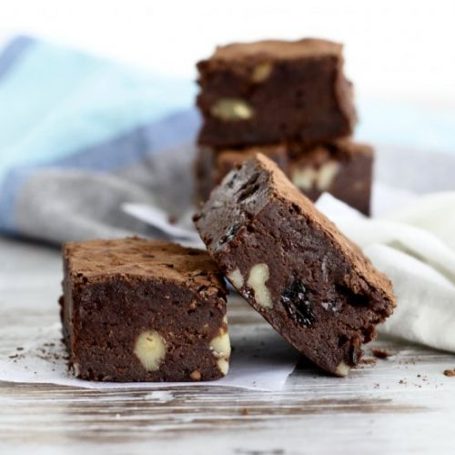 Whisky raisin brownies