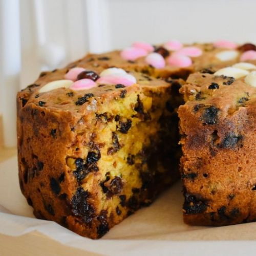 Floral Fruit Cake for Christmas
