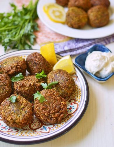 Lebanese Falafel with Tahini Yogurt