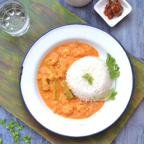 Goan Prawns Curry With Drumstick