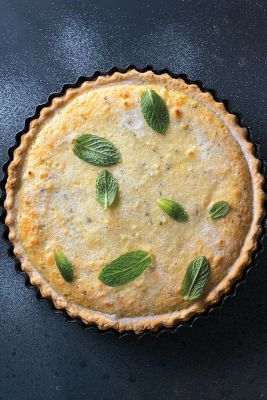 Cheese and Mint Tart