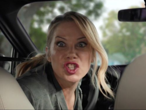 Christina Applegate Deals With Some 'Bad Passengers' in M&M's Super Bowl Ad