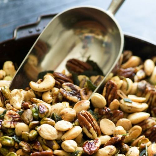 Roasted Nuts with Sage