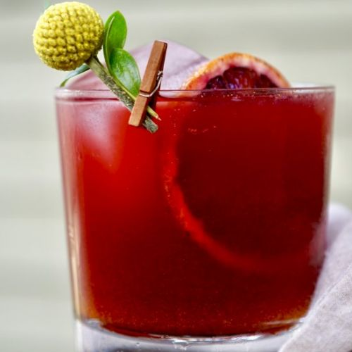 Blood Orange-Pomegranate Mocktail