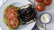 How To Make A Vegan BLT Sandwich With Mushroom Bacon