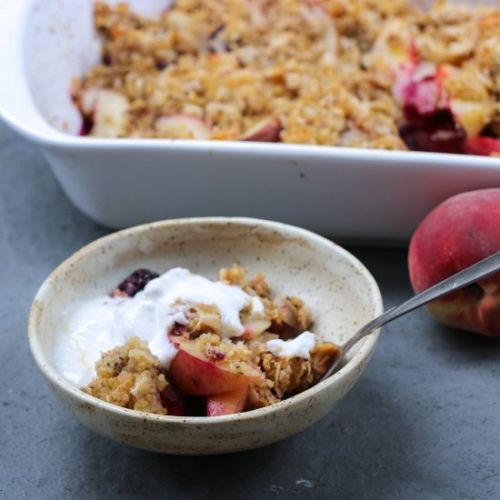Peach Quinoa Crumble