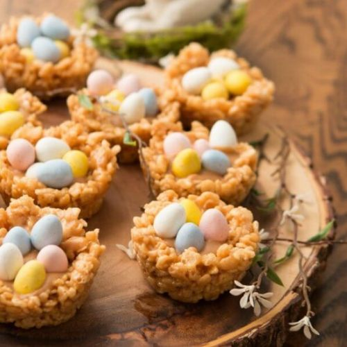 PEANUT BUTTER CREAM FILLED EGG NEST