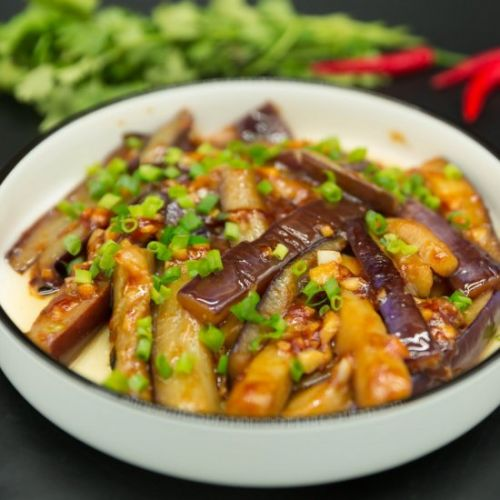 Eggplant with Garlic Sauce