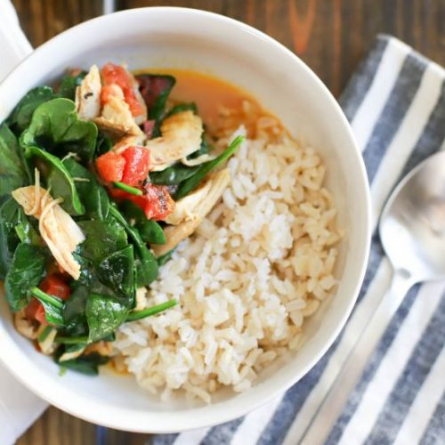 Easy Chicken Curry with Spinach
