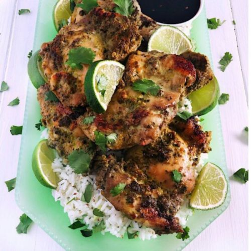 Baked Cilantro Lime Chicken Thighs