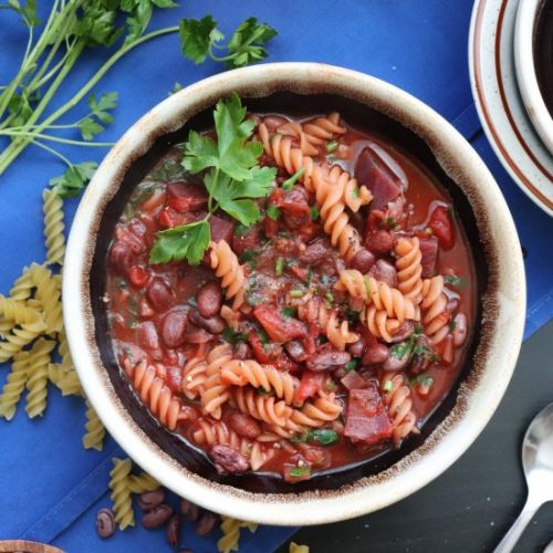 Easy Minestrone Soup with Beets