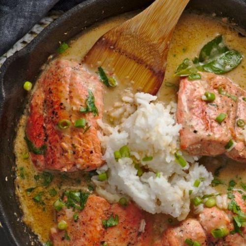 Salmon Curry with Kaffir Lime
