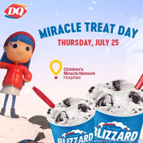 DQ Blizzard Treat Sales Help Kids on Miracle Treat Day