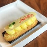 Disney World Has New Whipped Pineapple Eclairs That Come With a Tiny Macaron on Top!