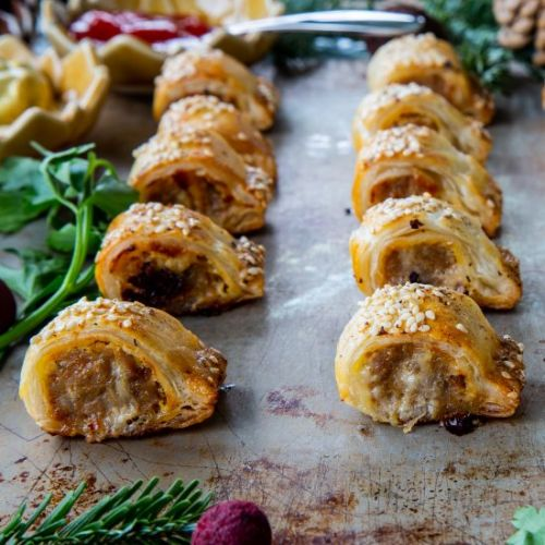 Sausage Rolls with Gruyere Cheese