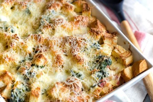 Gruyere and Ham Breakfast Casserole