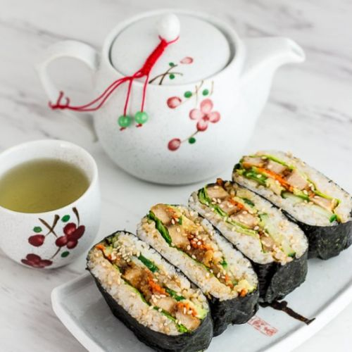 Vegan Sushi Rice Ball Sandwich