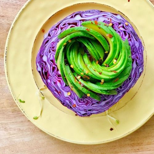 Purple cabbage & Avocado Salad