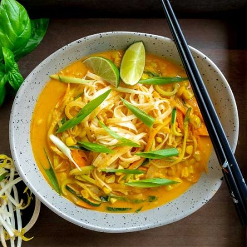 Coconut Curry Noodles With Veggies