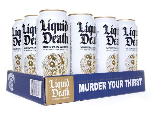 Uncomfortably Aggressive Canned Water Startup Liquid Death Reportedly in Talks to Raise $10 Million More in Funding