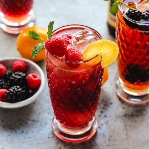 Meyer Lemon Berry Shandies