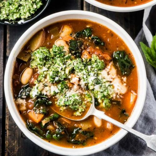 The Best Kale Minestrone Soup