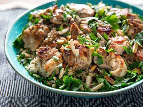 Broiled Tandoori-Style Chicken With Almonds and Couscous