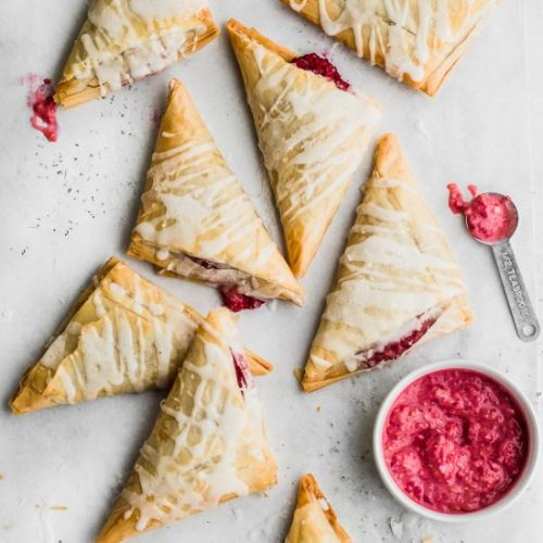 Raspberry Vegan Turnovers