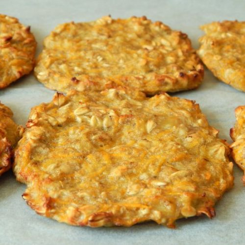 BLW Carrot and oat fritters