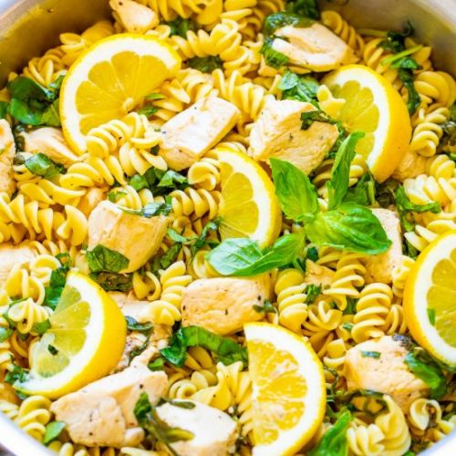 Lemon Pepper Basil Chicken & Pasta
