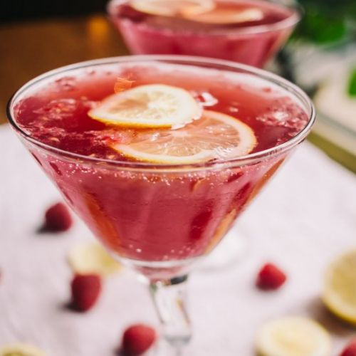 Raspberry and Pomegranate Cocktail