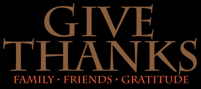 Happy Thanksgiving: Giving Thanks