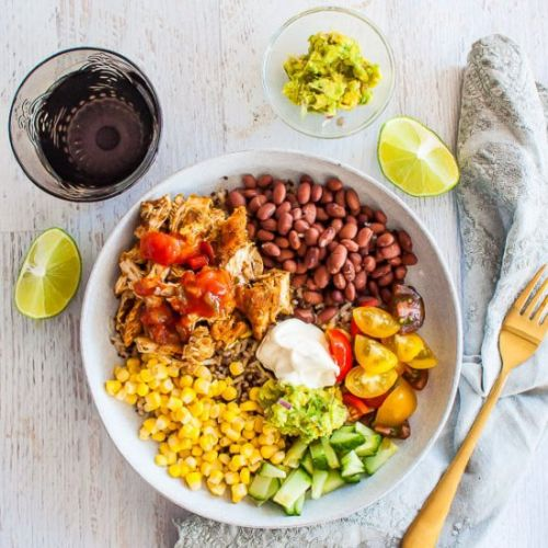 Pulled Chicken Burrito Bowl