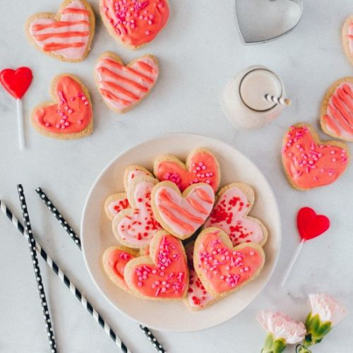 Valentine's Day Vegan Sugar Cookies