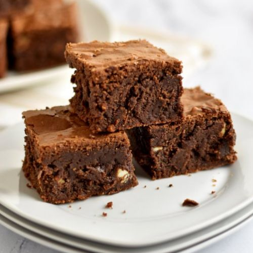 GF Triple Chocolate Chip Brownies